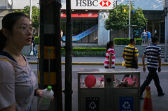 Nameless (Spontaneousnap) Tags: spontaneousnap street shanghai china city like candid documentary people publicareas lifestyle 上海 ricohgr takeabreak afternoon asia stripe balloon