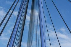 Blue bridge (Jan van der Wolf) Tags: map191353v bridge brug lines lijnen lijnenspel interplayoflines playoflines blue blauw sky clouds wolken rotterdam