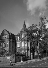 28 Arkwright Road (marc.barrot) Tags: bw building street architecture uk nw3 london hampstead arkwrightroad
