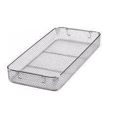 Sterilization Woven Wire Mesh Basket with Drop Handles 450 x 220 x 50 mm (jfu.industries) Tags: 304 astm basket baskets cassette drop handles health healthcare hospital industries jfu jfuindustries medical mesh pakistan sialkot stainless steel sterile sterilisation sterilization sterilizing surgery trays wire woven