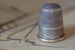 Thimble (JMS2) Tags: thimble vintage sewing pattern clothing darn