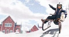 Life begins where fear ends. (Skippy Beresford) Tags: boy child children childhood kids winter snow sled sledding fun adventure bumpy ride soar fly play
