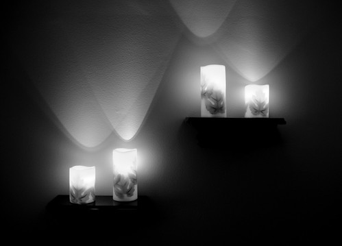 Electric Candles (B&W)