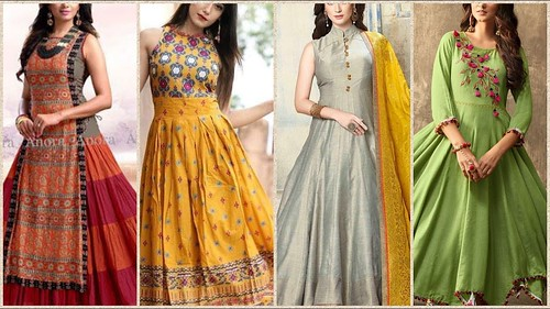 4c087c112 Latest Top Stylish Long Frocks Designs For Girls 2018-2019 - a photo ...
