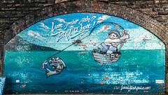 Want Fresher Fish (Brian Travelling) Tags: scotland pentaxdal pentax pentaxk20d glasgow fishmarket mural trail fresher fish fishingboat funny fun comedy comic comical pentaxkr
