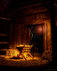 La Magie Que Nous Ne Voyons pas (JDS Fine Art Photography) Tags: manger illumination light stars magic inspiration magical spiritual barn xmas xmasscene