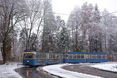 P-Zug 2006/3004 an der Großhesseloher Brücke (Frederik Buchleitner) Tags: 2006 3004 linie15 munich münchen pwagen strasenbahn streetcar tram trambahn