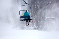 Chairlift (stephencharlesjames) Tags: ski skiing winter sport snow sports chairlift vermont weather