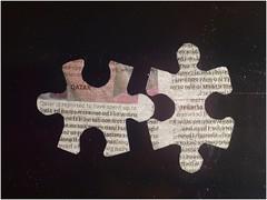 Puzzling News in the Sky (jesse1dog) Tags: jigsaw puzzle pieces duo curves sky outline tabletop gm1 olympus zuiko om auto macro 50mm olympuszuikoomautomacro50mm qatar newspint print lifeisarainbowblack