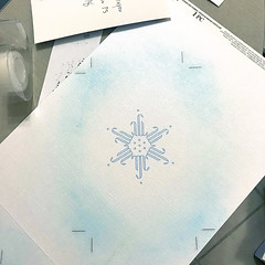Christmas Card WiP (Skeptical Beowulf) Tags: 2018 christmas snowflake paper white blue graphicdesign