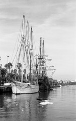 old boats (carles.ml) Tags: nikon fe kodak tmax 400 film bw 35mm epson v550 seaport barcelona