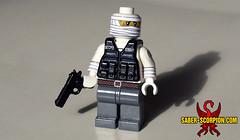 """I was baptized twice... (Saber-Scorpion) Tags: lego minifig minifigure minifigures moc brickarms fallout postapoc postapocalyptic burnedman theburnedman joshuagraham honesthearts falloutnewvegas newvegas m1911"
