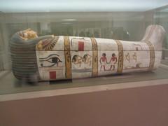 Sarcophagus,  CaixaForum, Madrid, June 2018, (d.kevan) Tags: exhibitions caixaforum ancientinstruments displaycabinets june2018 madrid spain exhibits egypt paintings sarcophagus