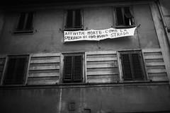 L1045786 (Daniele Pisani) Tags: lenzuola signa protesta smog traffico code file lastra nebbia fuomo fumo strada