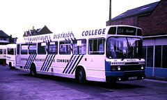 Slide 125-53 (Steve Guess) Tags: wakefield west yorkshire england gb uk bus collage district leyland national mk2 college xua72x 201