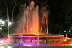 Colourful Fountains! ('cosmicgirl1960' NEW CANON CAMERA) Tags: fountain water marbella spain espana andalusia costadelsol travel holidays colourful yabbadabbadoo