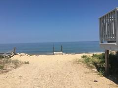 The path down (hannaschmitz) Tags: capecod ma massachusetts sandwichma beach shore water sand sky nature