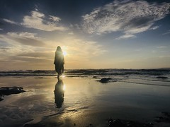 Sunrise love (doubleshotblog) Tags: reflection oceanlove sunwarship caves rocks beachsunrise selfportrait iphoneography silhouette sunrise centralcoast newsouthwales australia beach cavesbeach