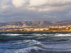 P1080934 (mr. Wood) Tags: ep5 computar olympus cyprus paphos larnaca mediterranian waves sunset sea water sky