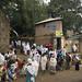 Pilgrims near Fasiladas Castle, Gonder, Ethiopia