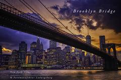 Brooklyn Bridge (Fotomanufaktur.lb) Tags: brooklyn bridge nyc newyork manhattan canon bluehour schölkopf schoelkopf light sky water