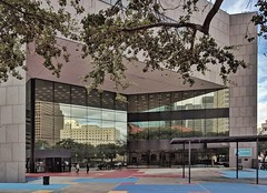 Houston's Central Library, Jesse H. Jones Building (elnina999) Tags: houston texas public central library architecture swamplot pixel mobile education books entrance homeless services wii book clubs kids outdoors building