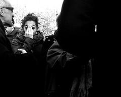 Through the Crowd 1 (Owen J Fitzpatrick) Tags: ojf people photography nikon fitzpatrick owen pretty pavement chasing d3100 ireland editorial use only ojfitzpatrick eire dublin republic city tamron candid joe candidphotography candidphoto unposed natural attractive beauty beautiful woman female lady j along photoshoot street dslr digital streetphoto streetphotography black white mono blackwhite blackandwhite monochrome blancoynegro pretoebranco bw dun laoghaire dunlaoire peoples park scarf eye contact coat brunette face irish