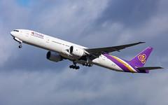 Thai Airways Boeing 777-3D7 HS-TKO (Neil D. Brant) Tags: airlines boeing7773d7 hstko operator thaiairways feltham middlesex england gb