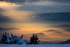 Escape (Wim Air) Tags: graz austria wimairat styria fog clouds sunset sundown schöckl