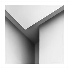 Geometria / Geometry. (ximo rosell) Tags: ximorosell bn blackandwhite blancoynegro buildings valencia llum luz light squares spain arquitectura architecture abstract abstracció cuadrado composició