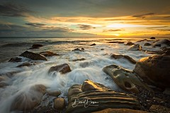 Rocky Beach at Golden Sunset (風傳影像) Tags: gettyimages on1effects2017 tainancity danieldawn sunrisedawn taiwan