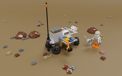 FebRovery -  ITBT Rover (ORION_brick) Tags: lego render rover space car febrovery february moc terrain imager imaging tester science robot mars moon