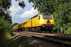 ALSO IN YELLOW (Malvern Firebrand) Tags: working regular 1q15 0639 derby rtc landore tmd hst 125 43xxx class43 powercars 43013 43062 john armitt network rail measurement train worcester approaches norton junction 1817 2017 yellow rural countryside scenic trees track trains railroad railways worcestershire england outdoors