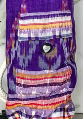 Rope Pocket Mat Bag Purple Heart.jpg (KIZEN THE LABEL) Tags: madewithlove matbag shellbutton yogamatbag blackleather rope purple ropepocketmatbagpurpleheart yoga balisarong flyinghearts heart pilates sarong leathertrim kizen
