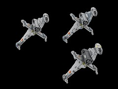 Mini B-Wing colour variations (Cpt. Ammogeddon) Tags: star war wars b wing bwing fighter rebel empire jedi science fiction movie film space ship vehicle sky battle heavy lego toy moc custom kid adult teen play