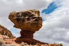 Balanced Rock and a Patch of Blue (Ralph Earlandson) Tags: coloradoplateau desert utah capitolreef clouds