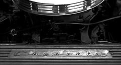 1960 Corvette engine detail B&W (Light Orchard) Tags: car auto automobile sports antique classic vintage old restored chevrolet chevy corvette vette 1960 american ©2019lightorchard bruceschneider