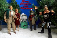2 Days of Christmas - It's A Wonderful Life, BROTHER! (MayorPaprika) Tags: canoneos50d ef28135mmf3556isusm 110 custom diorama toy story paprihaven action figure set doll toybiz hulk hogan nwo hollywood exclusivepremiere itsawonderfullife georgebailey jimmystewart maryhatch donnareed christmas holiday