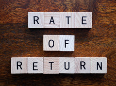 Rate of return stock photo