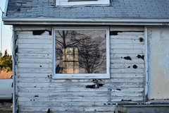 Drive-by Town (Moon Rhythm) Tags: house rundown window reflection driveby abandoned easternshore maryland shack grasonville