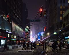 3702 Snowy Crossing (JoelZimmer) Tags: 24mmf28 4x5 manhattan midtown newyork nikond750 streetphotography timessquare