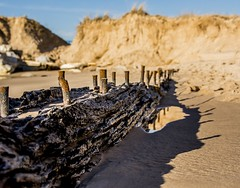 """""""Mother Nature is a Wild Woman!"""" (Dr. Farnsworth) Tags: thecontest story detroitfreepress ship wreck buried sand whitehall south pier mi michigan winter january2019"""