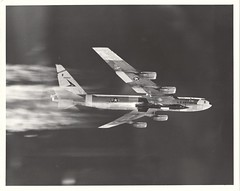 X15_v_bw_o_n (White - 13 APR 60 flt, original photograph) (apollo_4ever) Tags: expandingtheenvelope airdataboom noseboom usaftestpilot testpilot bobwhite robertmwhite boeingb52 wingspan aircraft wingpylon glider longrangebomber strategicbomber usafroundel thehighandmightyone stratofortress b52a rightstuff pushingtheenvelope hypersonic hypersonicflight 566670 66670 militaryaircraft militaryspacecraft xlr11 majorrobertmwhite usaf usafaircraft spaceplane hypersonicaircraft contrail contrails boeing boeingcompany nb52a boeingnb52a naa northamericanaviation northamericanaviationx15 x15 glossyphoto blackandwhite