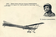 The Zodiac S-2 biplace in a revised version flown by Jacques Labouchère, the test pilot of Zodiac [France, 1911] (Kees Kort Collection) Tags: 1911 biplane inflight labouchère revisedversion s2 zodiac