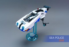 Sea Police 2049 LEGO MOC (GolPlaysWithLego) Tags: lego moc hovercar police cyberpunk