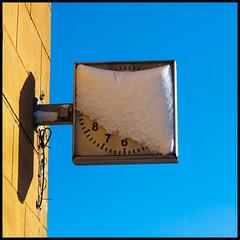 MIssing time (rsvatox) Tags: quadrant 1x1 clocks winter frame saintpetersburg snow
