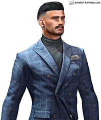 No734 (ashraf rathmullah) Tags: volkstone gentleman all catwaomega man cave march 17th facial hair hairbase brows 4 colors applier modulus scott outfit deadwool hart jacket flannel