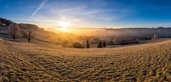 Here comes the Sun☀️ #2 (PhiiiiiiiL) Tags: kirchberg kantonstgallen schweiz ch sunrise toggenburg säntis panorama sun sonnenaufgang switzerland nikon d810 sonnenstern nebel fog stgallen landscape landschaft golden hour