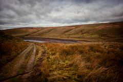 LOW LEVELS at Readycon Dean Reservoir (Missy Jussy) Tags: readycondeanreservoir reservoir water lowlevelsatreadycondeanreservoir january 2019 sky clouds hills moorland moody moodylandscape path grass walkinglandscape denshaw rochdale saddleworth northwest england greatbritian uk unitedkingdom canon5dmarkll canon5d canoneos5dmarkii ef24mmf28 24mm canon outdoor outside countryside rural farmland