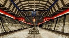 Metro Station Bergwerk Consolidation (Jose Maria Photo-Art) Tags: metro u bahn ubahn station bergwerk consolidation ruhrgebiet pott gelsenkirchen farben licht luz light blau
